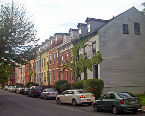 Pastures Historic District - Houses on north side of Westerlo Street, 2008