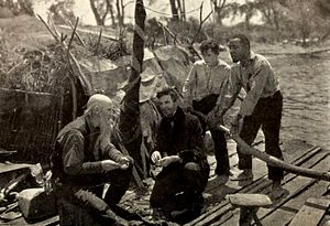 George H. Reed - Tom Bates, Orrall Humphrey, Lewis Sargent, and George H. Reed in Huckleberry Finn (1920)
