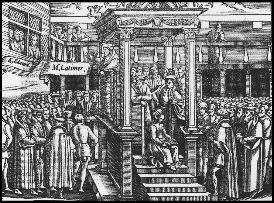 Hugh Latimer Preaching to Edward VI