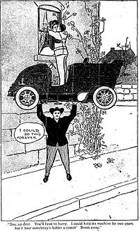 Hugo Hercules lifting a car.jpg