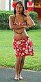 Hula dancer performing in Poipu, Kauai (4828543917).jpg