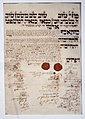 Hungarian Jewish Museum, Rabbi's contract.jpg