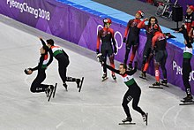 Hungary wins gold in PyeongChang short track relay (40486116091).jpg