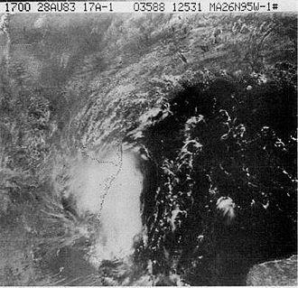 1983 Atlantic hurricane season - Image: Hurricane Barry (1983)