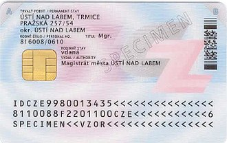 National identity cards in the European Economic Area - Image: ID card CZ 2012 b chip