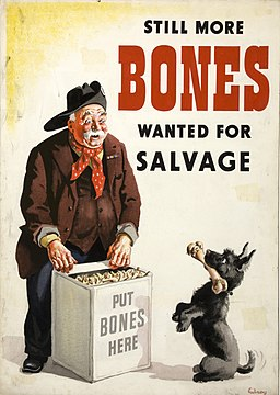 INF3-217 Salvage Still more bones needed for salvage (rag and bone man with dog) Artist Gilroy