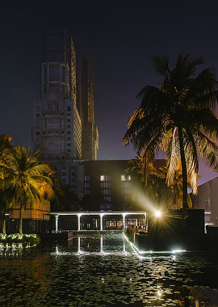 File:ITC Sonar - A 5 star hotel with another ITC property in the backdrop ITC Royal Bengal.jpg