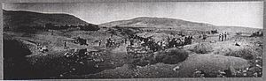 Capture of Damascus (1918) - Transport crossing the Wadi el Bireh near Jisr el Mejamie on 27 September – it took two days to get 30 lorries across. Here 14 German lorries were bogged and abandoned.