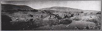 Capture of Damascus - Transport crossing the Wadi el Bireh near Jisr el Mejamie on 27 September – it took two days to get 30 lorries across. Here 14 German lorries were bogged and abandoned.