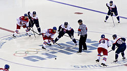 Ice hockey at the 2014 Winter Olympics – Men's tournament Czech Republic vs Slovakia.jpg