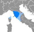 Idioma toscano y dialectos mutuamente inteligibles.png