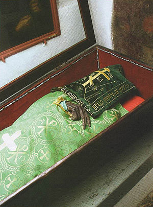 Ilya Muromets - Incorrupt relic of saint Ilya Muromets in Near Caves at Kiev Pechersk Lavra