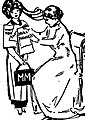 Imaginative 1910 sketch of Jane Addams giving a lanyard to Marguerite Martyn.jpg