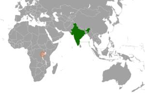 India–Rwanda relations - Image: India Rwanda Locator