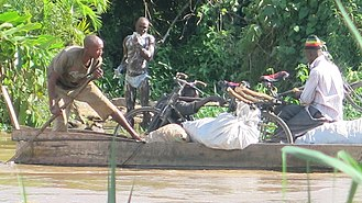 Kagera River - Informal cross-border trade between Tanzania and Uganda.