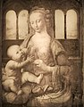 Infrared reflectograms of the Madonna with clove by Leonardo da Vinci.jpg