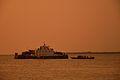 Inland RORO Cargo Ship Shapla-Shaluk 9 and Desi Boat - River Padma - Rajbari-Dhaka 2015-05-29 1400.JPG