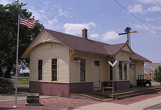 Inman, Kansas - Former Rock Island railroad station in Inman (2012)