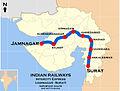 Intercity Express (Jamnagar - Surat) Route map.jpg
