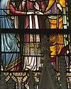 interieur mariakapel, glas in loodraam, detail verkleuringen op heup, knie en juk - lith - 20334126 - rce