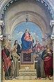 Interior of Santi Giovanni e Paolo (Venice) - Scuola veneta (XVI, secondo decennio) Madona con Bambino e santi.jpg