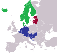 Map Showing The Coverage Of 3 International European Organ Donation Associations