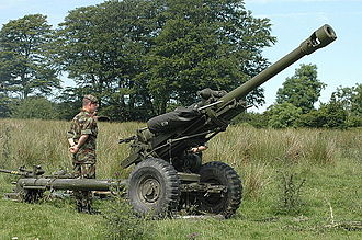 Irish Army - 105mm L118 light gun crewed by the Artillery Corps (Army Reserve)