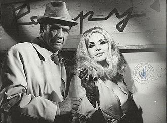 Armando Bó - Bó and Isabel Sarli in Una mariposa en la noche, 1976.