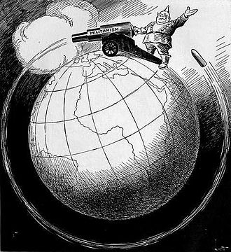 Antimilitarism - It Shoots Further Than He Dreams antimilitarist cartoon by John F. Knott. First published in March 1918.