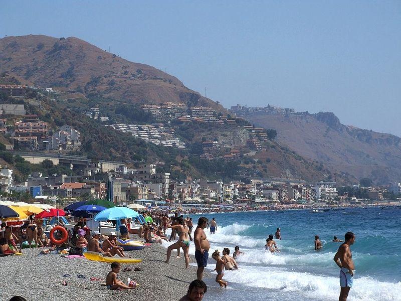 File:Italy-Taormina Beach - Creative Commons by gnuckx (3492293192).jpg