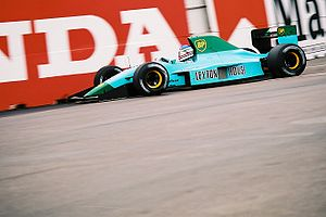 Leyton House Racing - Ivan Capelli driving the CG911 at the 1991 United States Grand Prix.