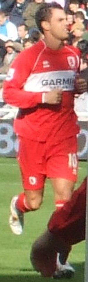Jérémie Aliadière - Aliadière playing for Middlesbrough in 2008