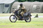 JGSDF reconnaissance bicycle (Kawasaki KLX250) 20120610-02