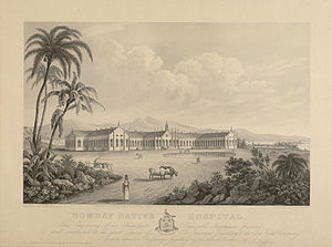 Grant Medical College and Sir Jamshedjee Jeejeebhoy Group of Hospitals - Jamshedjee Jeejeebhoy Hospital, 1843 print.