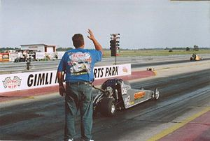 Junior Dragster - The gap between a slower car and a faster car in a bracket race