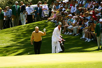Jack Nicklaus, with his son Jack Nicklaus II a...
