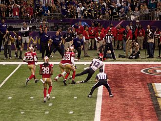 Jacoby Jones - Jones scoring a touchdown during second quarter of Super Bowl XLVII