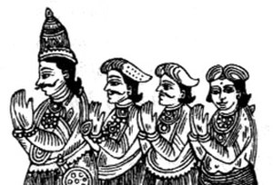 Jaffna Kingdom - The Royal family, first from the right is Cankili I, who held off the Portuguese Empire.