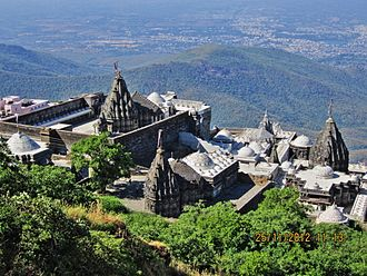 Girnar Jain temples - The cluster of Jain temples on Girnar mountain near Junagadh, Gujarat