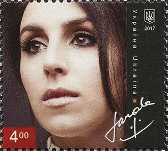 Jamala - Jamala on a 2017 stamp of Ukraine