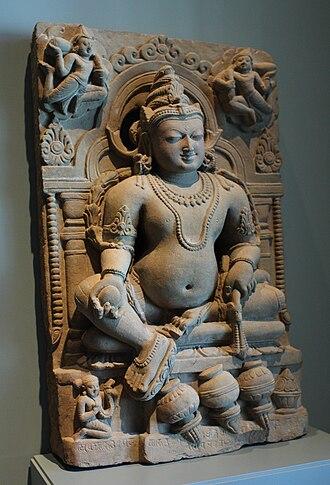 Kubera - Jambhala, the Buddhist Kubera, depicted similar to Kubera