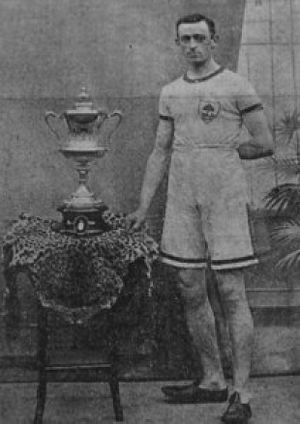 Jimmy Curran - Curran after winning the Border Mile Championship in 1903