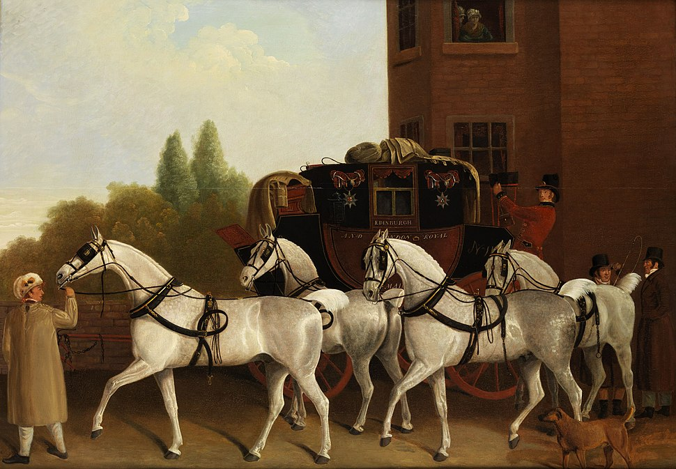 James Jacques Laurent Agasse (attr) Edinburgh and London Royal Mail