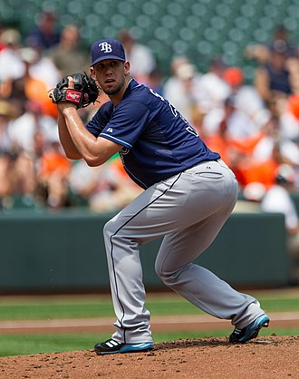 James Shields (baseball) - Shields pitching for the Tampa Bay Rays