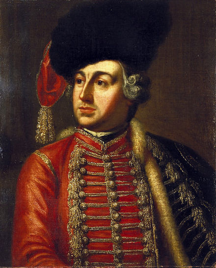 David Garrick in character as Tancred from James Thomson's Tancred and Sigismunda, 1752. James Thomson David Garrick as Tancred 1752 VA.jpg