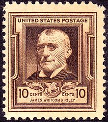 A postage bearing Riley's image