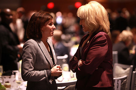 Candidate Martha McSally with Governor Jan Brewer at the Arizona Chamber of Commerce & Industry's 2014 Legislative Forecast Luncheon in Phoenix Jan Brewer & Martha McSally.jpg
