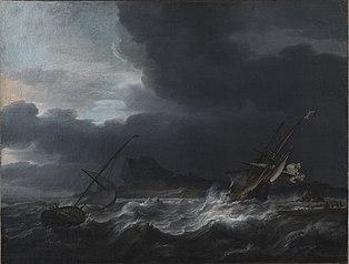 Gale off Rocky Coast