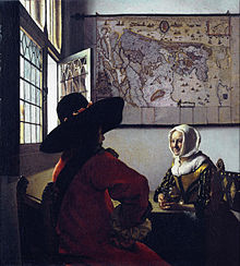 VERMEER Johannes Officer and a Laughing Girl ca. 1657