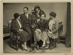 Tristan Tzara - Tzara (second from right) in the 1920s, with Margaret C. Anderson, Jane Heap, and John Rodker